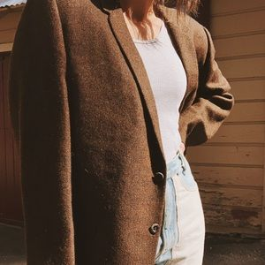 Vintage brown oversized blazer